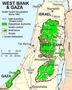 Israel wall map