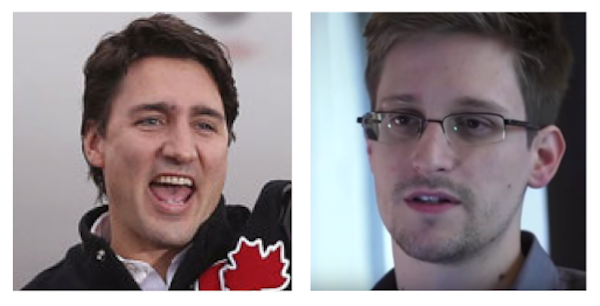 Trudeau and Snowden