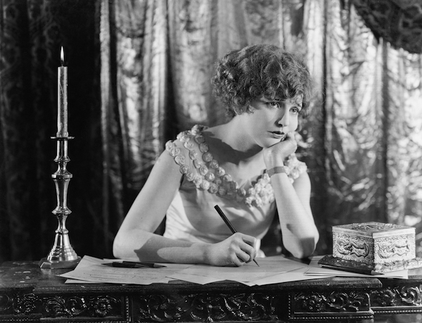 woman writing vintage